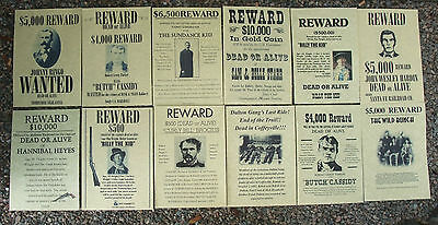 Butch Cassidy, WILD WEST POSTERS, Novelty reproductions, SET E ,Sundance Kid