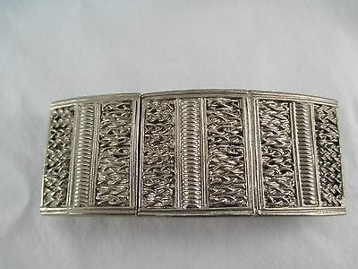 Vintage Pewter tone Accessocraft Two Piece Belt Buckle