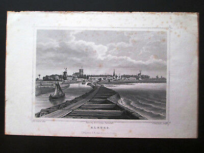 ELBURG. NETHERLANDS. Steel engraving. 1858