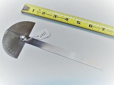 Protractor, Vintage General Hardware No. 18 Stainless Steel Protractor, USA