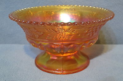 Antique Beautiful Northwood Carnival Glass Dish or Bowl Grape & Cable Pattern