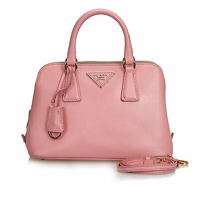 b21df0718e04 Vintage Prada Pink Others Leather Saffiano Lux Promenade Satchel Italy