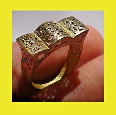 EXTREMELY RARE Ancient RING VIKING BRONZE museum quality artifact Stunning