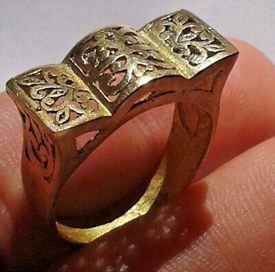 EXTREMELY RARE Ancient RING VIKING BRONZE museum quality artifact