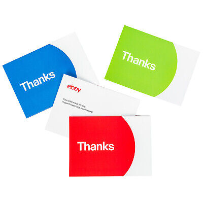 "3-Color, eBay-Branded 5.5"" x 4"" Thank You Postcards Multi-Pack"