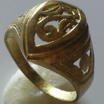 Ancient Viking Bronze Ring Artifact Museum Quality Artifact Very Stunning