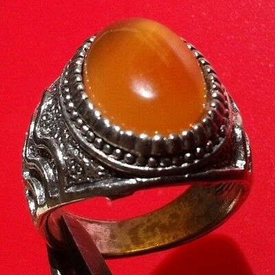 Rare Ancient Antique Ring Roman Silver Stunning Artifact Rare Type w/Stone