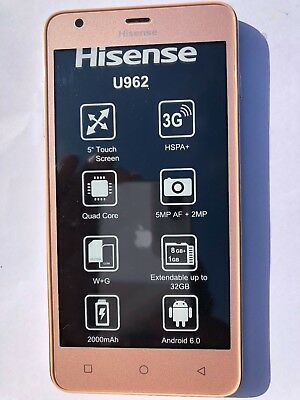 HISENSE INFINITY U962 Brand New Mobile Phone - Full 12 months Manufacturers  WTY