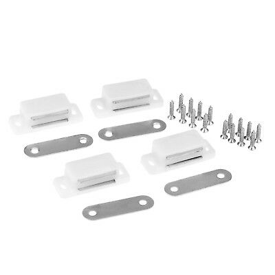 Magnetic Catch Cupboard Door Latch White Cabinet Catch Magnet  with Screws