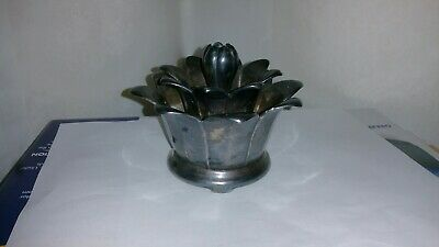 Vintage Figural Silver Plate / Silverplated Lotus Flower Frog by WALLACE