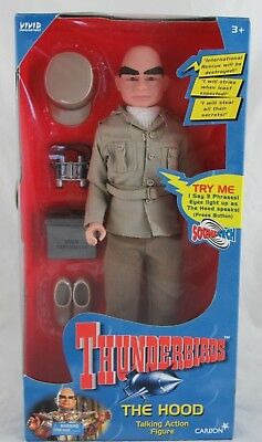 "Thunderbirds The Hood 12"" Talking Action Figure Vivid Imaginations, Sealed"