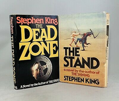 Stephen King-2 Books!-The Stand-The Dead Zone-First/1st Book Club Editions-RARE!