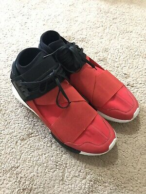 0ca68c52825a5 ADIDAS Y-3 QASA HIGH YOHJI YAMAMOTO ROYAL RED BLACK WHITE S83174 Size 11.5