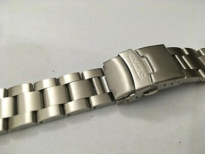 Seiko Solid Stainless Steel Gents Watch Strap,Curved Lug,22Mm,New,( Bd-4 )