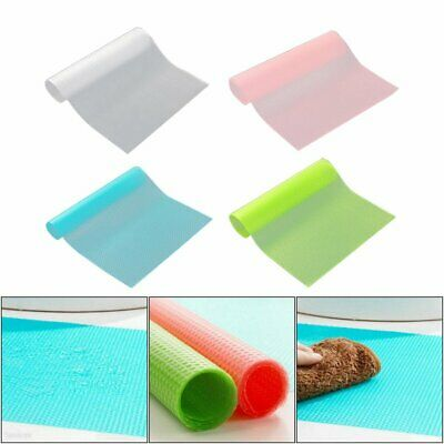 4Pcs Antibacterial Refrigerator Fridge Mat Drawer Liners Washable Kitchen QC
