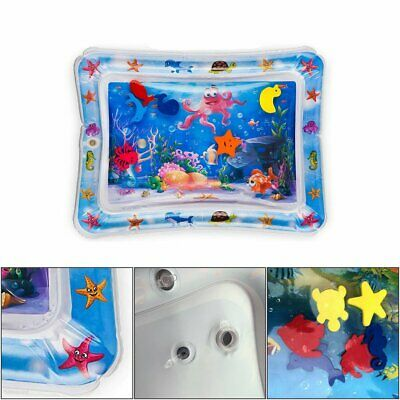 Inflatable Water Play Mat For Baby Infant Toddlers Mattress Best Fun Time QC