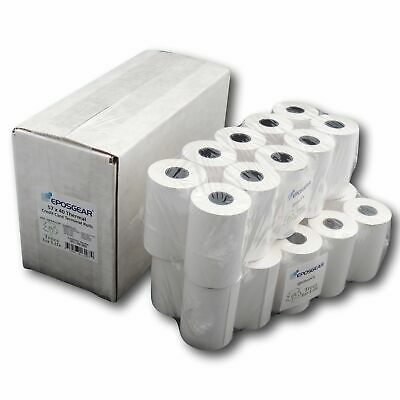 EPOSGEAR 57 x 40 mm Thermal Credit Card Till Roll (Pack of 20) - white
