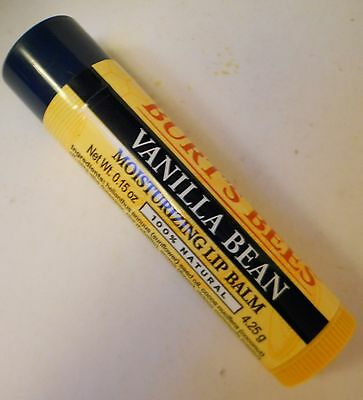 "BURT'S BEES VANILLA BEAN ""MOISTURIZING LIP BALM"" 0.15oz. TUBE, AWESOME AROMA!"