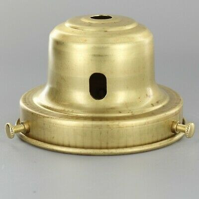 """UNFINISHED BRASS ~ 3 1/4"""" Fitter -  BELL ~ Lamp Shade Holder w/ Key Slot ~#C3-12"""