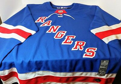 Adidas NHL New York Rangers Authentic Jersey Blue Red Size 54 Xl CA7102