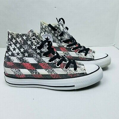 253b66e0afc0 Converse Chuck Taylor All Star Hi Top Shoes USA American Flag M 4 W 6  147063F