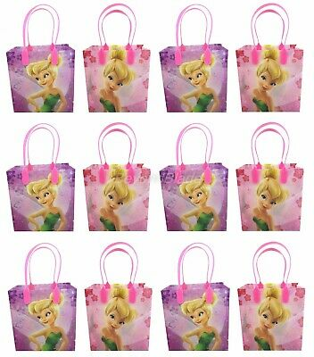 Disney Tinkerbell Goody Bag Party Goodie Gift Birthday Candy Bags 12pc