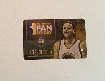 Stephen CURRY 2017 BART Ticket card Golden State Warriors Steph