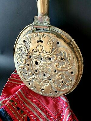 Old English Brass Bed Warmer Pan (b) …beautiful display & collection piece