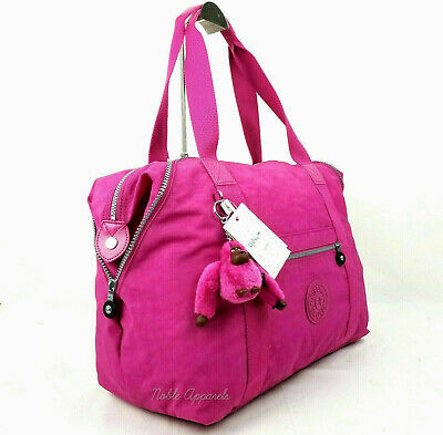 6a921426471 Kipling Art M Medium Nylon Tote Travel Weekender Shoulder Bag Very Berry  Fuchsia