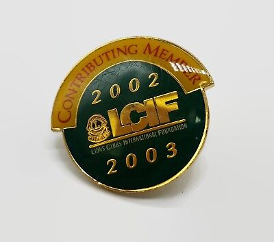 CONTRIBUTING MEMBER LCIF Lions Clubs International Foundation 2002-2003 Pin