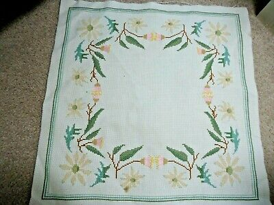 native floral, Cushion Front. Cross-Stitch design. Completed.   New.
