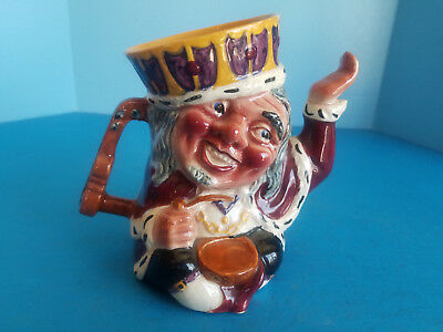 Toby Teapot Vintage Staffordshire Shorter & Sons Two Faced Old King Cole