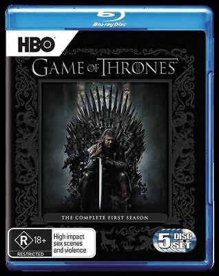 Game Of Thrones : Season 1 (Blu-ray, 2012, 5-Disc Set) Excellent Condition