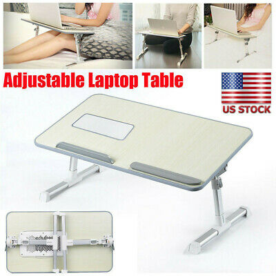 Adjustable Laptop Bed Tray Portable Stand Desk Foldable Sofa Breakfast Table US