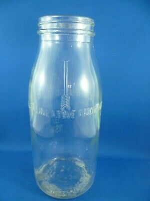 Original NSW CROWN  MOTOR OIL GLASS BOTTLE ONE IMPERIAL QUART