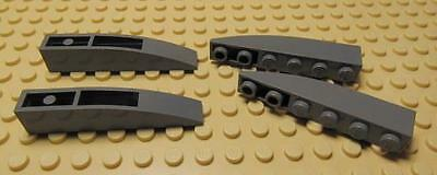 LEGO Lot of 6 Light Bluish Gray 6x1 Curved Inverted Slopes