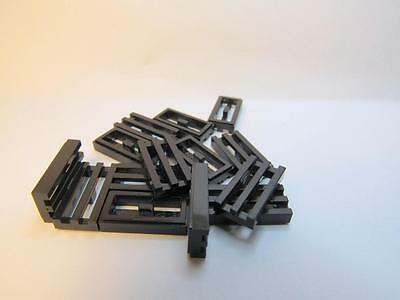 15 LEGO Parts~ Modified 1x2 Grille w Bottom Groove//Lip 2412 DK RED Tile