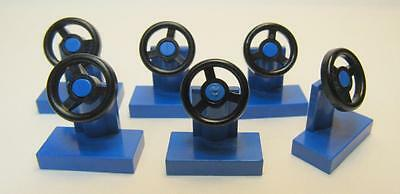 4x vehicle voiture Steering Stand 1x2 volant bleu//blue 3829c01 NEUF Lego