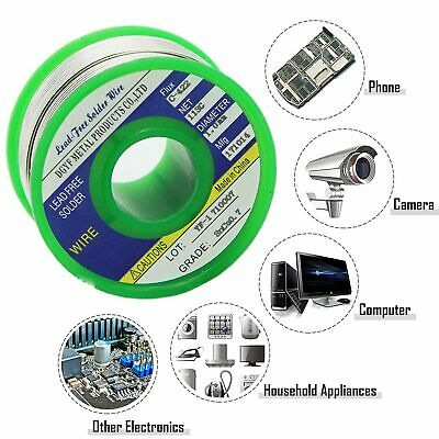 1mm Solder Wire Lead Free Sn99.3 Cu0.7 with Rosin Core for Electronic 100g/1.1LB