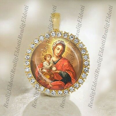 Virgin Mary Our Lady Mother Of God Catholic Gold Tone Christian Religious Medal