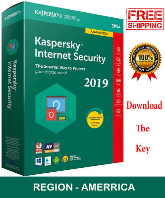 KASPERSKY INTERNET Security 2019 3 PC/ 3 Device /1 Year/ For - AMERICA / 14.45$