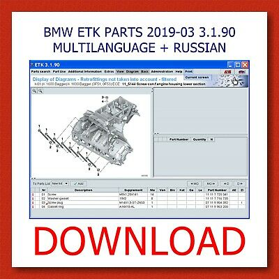 Bmw Etk Parts Cars-Motorcycles 2019-03 3.1.90 Multilanguage+Rus] Download