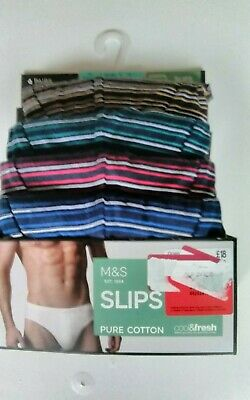 Nwtg Marks Spencer  4 Pairs Slips Pure Cotton  Cool&Fresh
