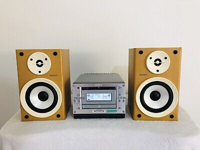 Minidisc MD CD FM AM Micro HiFi Sony CMT-PX333 MDLP with Remote & User Manual
