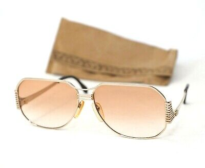 YSL Yves Saint Laurent sunglasses   gold beige brown gradient aviator women
