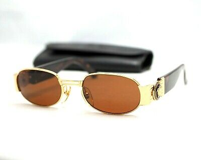 3dbb8b73c1ac Gianni Versace S70 sunglasses vintage gold brown oval medusa head small  baroque