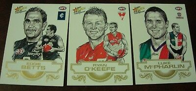 2008 AUSTRALIAN AFL FOOTBALL INSERT SKETCH CARDS x 3 - EDDIE BETTS-RYAN O'KEEFE