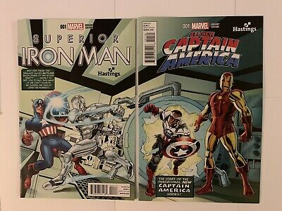 All-New Captain America & Superior Iron Man #1 Connecting Hastings Variant