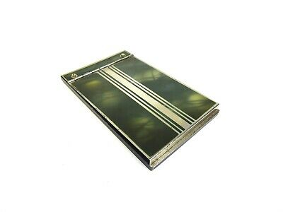 German Bauhaus Art Deco Case 1925 Metal Folder Note Pad Holder Enamel Futurism