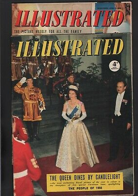 Illustrated Weekly Magazine 1956   Vintage  Full Page Colour Adverts